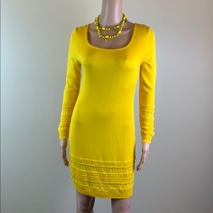 Byblos yellow knit dress size S